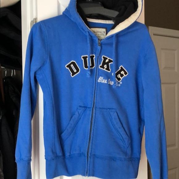 DUKE BLUE DEVILS ADULT EMBROIDERED GREY FULL ZIP HOODED SWEATSHIRT NEW